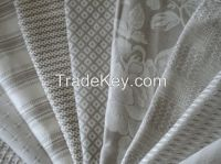 100% Linen Fabric Natural Dobby Jacquard Flax Cloth Upholstery Fabric