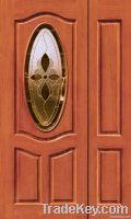 Wood Glass Entry Door