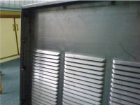 Fixed louvres for sound barrier and electrical panel