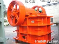 Used GOH 40inch x 32inch Single Toggle Jaw Crusher