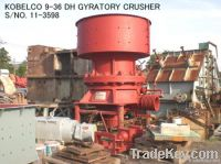 "USED KOBELCO 9-36 (36"" X 9"") DH GYRATORY CRUSHER S/NO. 11-3598"