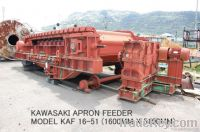 USED KAWASAKI APRON FEEDER MODEL KAF 16-51 WITH 15KW MOTOR/50HZ/400V