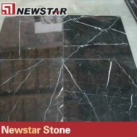 Nero Marquina black marble tile for floor