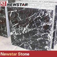 China Nero Marquina black marble floor tile