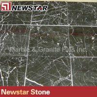 China polished Nero Marquina marble tile