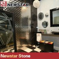Nero Marquina marble tile different sizes