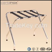 New products luxury hotel stainless steel luggage rack for bedroom