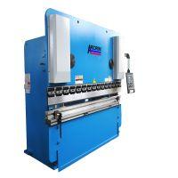 Double Linkage WF67K 80ton 2200 Hydraulic Folding Machine/80TON 3.2meters Bending Machine/Sheet Metal Press Brake With DA41