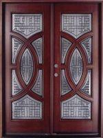 """Circular Deluxe Mahogany 36"""" Double Entry Door"""