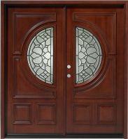 """Center Moon Mahogany 36"""" Double Entry Door"""