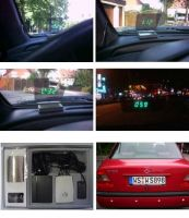 Head Up Display(HUD) Type parking sensor system and speed display