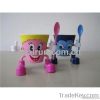 plastic ice cream cup&spoon set