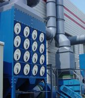 Horizontal dust collector