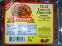 Almonds(tomato basil, lemon, chili lemon, roasted garlic, tamari, wasabi