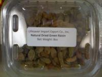 Natural Green Dried Raisins