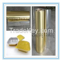 golden aluminium foil for food container