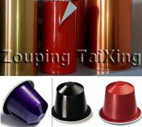 lacquered aluminium foil for coffee capsule
