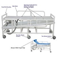 Gurney with Canvas Drain Pan, Mobility Shower Beds