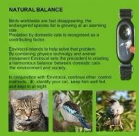 Liberator cat collar with save birds lives.your pet's best friend