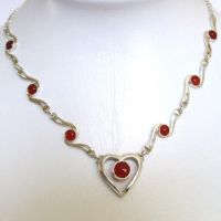 Red Onyx Necklace Valentina