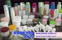 cosmetic packaging, plastic bottle and jars