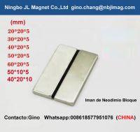 ndfeb block(tubos de iman) 40x20x10mm