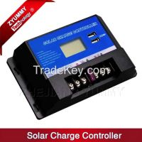 Hot selling 12V/24V 10A PWM Solar Battery Charge Controller with LCD Display and 2 USB Port