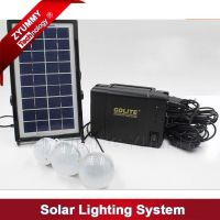 GDLITE GD-8020 solar lighting system kit portable with LED bulbs lighting and usb output for mobile phone charge
