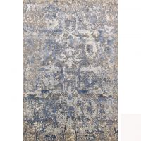 Hand-Knotted Modern Design, Contemporary Viscose Oxidized Wool With Multi Color Rugs