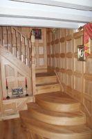Oak wall panelling