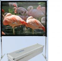 quick-fold portable screen with travel case