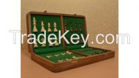 Travel Series Magnetic Chess Set in Shesham & Box wood - 16-SKU: S1207