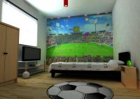 Wall-tastic Football children's wallpaper mural