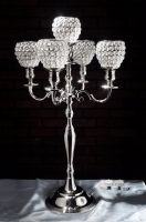 crystal ball candelabra candle holder