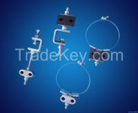 preformed deadend set/guy grip/tension set/Down-leading Clamp For ADSS/OPGW/line fittings/helical fittings