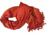 Scarves viscose and wool