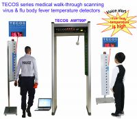 Walk-through body fever thermometer, corona virus and flu body fever scanner, walk through medical thermometer