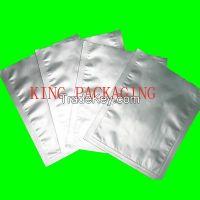 silver zip lock aluminium foil bag, silver plastic foil mylar bag