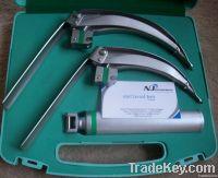 Laryngoscope fiber optic also LED