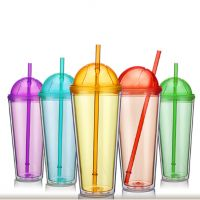 Double Wall Football Tumbler With Straw