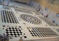 Marble water jet flooring