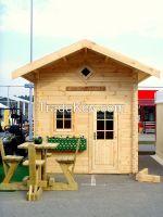 Garden log cabins 58, 70, 90 mm