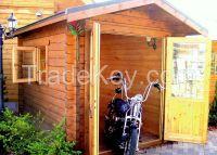Log shed, garage, small log cabin
