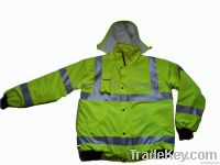 Hi Vis Safety Workwear Reflective Bomber Jacket