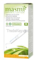 Organic and Natural Cotton Cardboard Applicator Tampons
