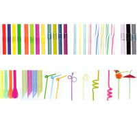 Drinking straws shape & color series