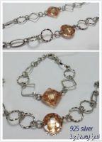 925 silver jewellery set with Zircon