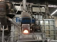 Aluminum chips and turnings melting furnace
