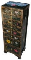 lacquer jewelry cabinet, oriental jewelry cabinet