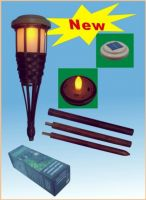 Solar torch light/insert into the earth